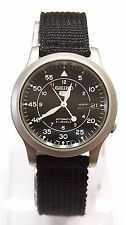 SEIKO 5 SNK809K2 Fabric Band Automatic Men's Black Watch Original & Gift NIB !