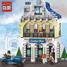 NEW ENLIGHTEN CITY Sunshine Hotel Deluxe Villa Building Blocks Minifigures Toys