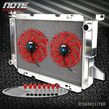 "Racing Aluminum Radiator +12"" Fan For 85-96 FORD F-150/F-250/F SUPER DUTY V8"