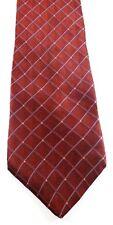 Nautica Necktie Tie Silk Red Blue Geometric Pattern Made In USA