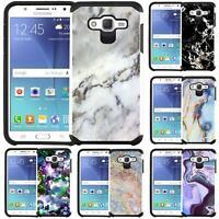 Marble Design Slim Hybrid Case Cover for Samsung SM-J700 Galaxy J7 (2015)