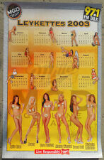THE TOM LEYKIS SHOW POSTER 24x37 TRACY DALI MICHELLE LALIOLAIS Autographed 2003