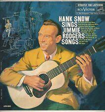 """Hank Snow """"Sings Jimmie Rodgers Songs"""" 1959 RCA LPM-2043 """"Moonlight And Skies"""""""