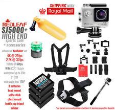 REDLEAF SJ5000+ SPORTS CAMERA + ACCESSORY SET Action Camera 4K LCD WIFI 170°wide