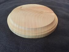 "New. Natural Unfinished Wood Plaque Wooden Round Base Stand 4"" DIY"