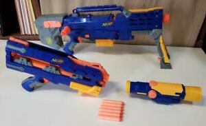 Nerf N-Strike Longshot CS-6 Dart Blaster Gun Darts Minus 1 Clip Needs Work a