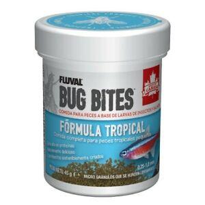 Fluval Bug Bites Granulos Formula tropical 45g 0,6-1,2mm