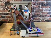 Playmobile Ghostbusters Fire House Plus Figures,Ecto1 car, stay puft incomplete