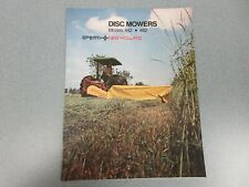 New Holland 442 & 462 Disc Mowers Sales Brochure 4 Pages