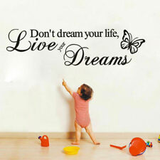 Don't Dream Your Life Art Vinyl Quote Wall Stickers Wall Decals Home Decor Live
