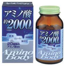 Amino Acid 2000mg Amino Body Supplement 250 tabs Vitamin B1, B6 ORIHIRO Japan