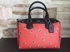 NEW WOMENS COACH (F55465) MINI BENNETT SATCHEL SIENNA ROSE FLORAL PURSE BAG