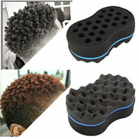 Wave Barber Hair Brush Sponge Tool Dreads Afro Locs Twist Curls Coil Braids