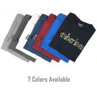 Timberland Men's Short Sleeve Camouflaged Linear Logo Cotton T-Shirt A1N4A