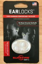 SureFire EarLocks Lock Earbuds Air Pods Comfortably in Place Translucent