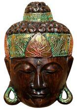 Schöne 30 cm Buddha Holz Wandmaske Budda Maske 58
