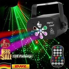 128 Muster Laser Projektor Light Bühnenlicht RGB LED USB Party DJ Disco Lampe DE