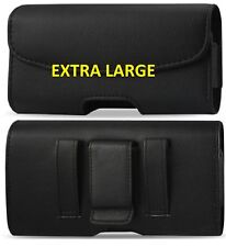 XL Leather Horizontal Belt Clip Loop Case Pouch Holster to fit Motorola Phones