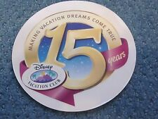 Disney Vacation Club Member Window Cling 15Th Anniversary Disney Cruise Line