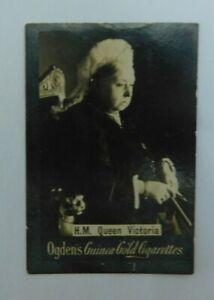 Cigarette Card Ogdens Guinea Gold c. 1900 Queen Victoria - Plain back vgc