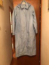 LL Bean Women's Full Lenght  Hooded Trench Rain Coat Size S