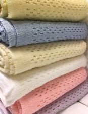 Acrylic Cellular Weave Blanket 6 colours New & Improved for Autumn 2017