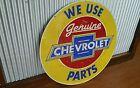 Large Round Chev Metal sign Man cave bar Garage Chevrolet