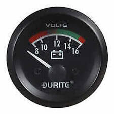 Durite 0-523-22, Marine Style 12v Volt Meter Gauge, Voltmeter Battery Condition