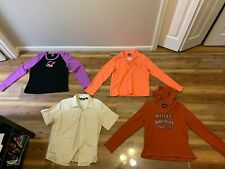 4 items HARLEY DAVIDSON MOTORCYCLES women's SHIRTS (size XL