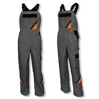 New Men Work Trousers Bib & Brace HIGH QUALITY PROFESSIONAL Multi Pocket KneePad