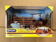 BREYER Stablemates Cutting Horse Set #5374 quarter horse calf cow