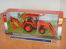 NEW RAY KUBOTA L6060 TRACTOR WITH BACKHOE AND LOADER 1/18 SCALE, NOS