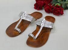 US Handmade leather sandal handmade shoes kolhapuri chappal flat mojari HH260