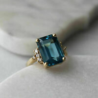 14K Yellow Gold Fn Round Diamond 1.00Ct Engagement Wedding Pinky Band Ring