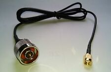 N-male To RP-SMA male 3FT coaxial Reverse Polarity SMA
