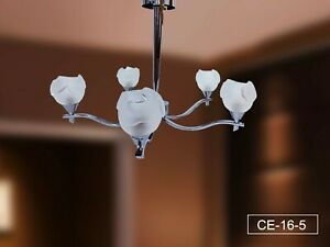 Luxury 5 Arms Crystal Ceiling light Pendant Polished Chrome lighting Chandelier