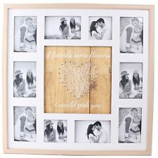 Large String Heart Design 10 Multi Photo Holder If Friends Were Flowers