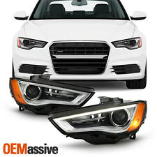For 2015-2016 Audi A3 Quattro S3 HID/Xenon Non-AFS LED Projector Headlights Pair