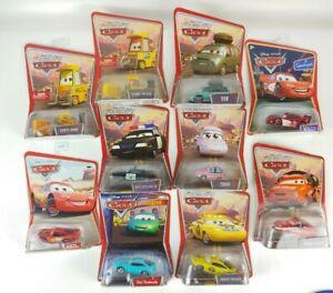 10pk Lot Disney Pixar Cars Mattel Toy Die-Cast Dudley Pulaski Lightning McQueen