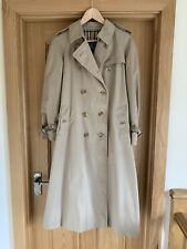 Vintage Ladies BURBERRYS LONDON Beige Belted Trench Coat Size 12 (Marked 10)