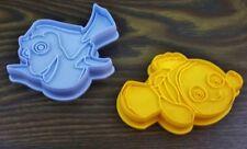 2er Set Backform Fische Nemo Plätzchenform Pralinenform Eiswürfelform Fondant