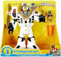 Power Rangers ~ WHITE RANGER & WARRIOR MODE TIGERZORD - Imaginext Fisher-Price