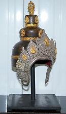 SILVER & BRONZE ANTIQUE BUDDHIST STUPA VAJRACHARYA MASTERS OF THUNDERBOLT CROWN