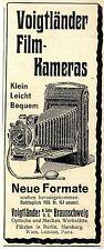 Voigtländer & Sohn, Braunschweig Voigtländer Film- Kameras Histor.Annonce 1906