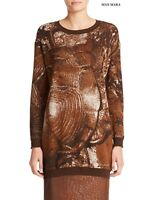 ❄New#    MAX MARA Printed CASHMERE&Silk Sweater  size XS
