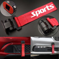 Red Universal Car/Auto Racing Sports Tow Hook Strap Front Rear Bumper Decoration