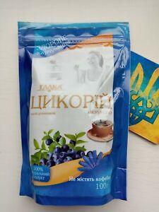 instant Chicory with Blueberry 100g caffeine free drink цикорий с черникой Галка