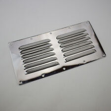 """9""""x4"""" Stainless Steel Air Vent Louvred Grill Cover Ventilation Louvre Grille Hot"""