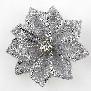 50pcs U pick satin ribbon flowers bows with Appliques Craft DIY Wedding 34 color