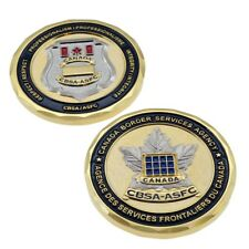 CBSA Canada Border Services Customs Badge 3D Maple Leaf Police Challenge Coin